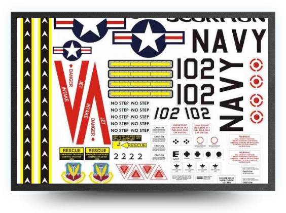Jets - planche autocollants navy - planche autocollants navy - Aviation Design