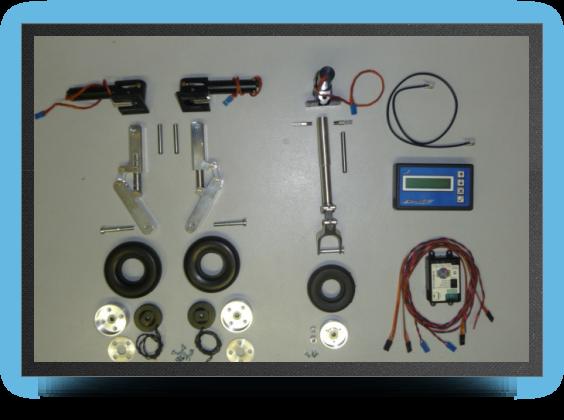Jets - Train rentrant electrique + jambes suspendues + roues + freins electriques - Train rentrant electrique + jambes suspendues + roues + freins electriques - Aviation Design