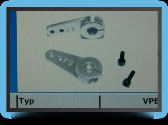 Jets - 1 bras de servo alu professionnel, 26.5mm, trous m 2.5 - 1 bras de servo alu professionnel, 26.5mm, trous m 2.5 - Aviation Design