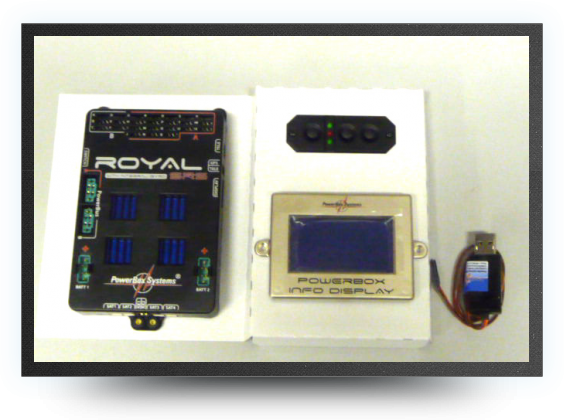 Jets - Powerbox royal srs avec ecran lcd - Powerbox royal srs avec ecran lcd - Aviation Design