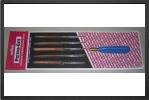 NF-1H : Cinq Limes Aiguilles Fines Aux Formes Incontournables : Plate, CarrÉe, Ronde, Triangulaire Et Demi Ronde Avec Manche.<br /> (longueur Totale 14 Cm) - Jets radio-commandés - Aviation Design