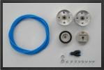 BO C1 : Jantes Aluminium Et Freins.<br />Jantes Montées Sur Roulement à Bille, Axe De 6 mm.<br />Conçu Pour Des Pneus De 75 à 80 mm De Diamètre - Jets radio-commandés - Aviation Design