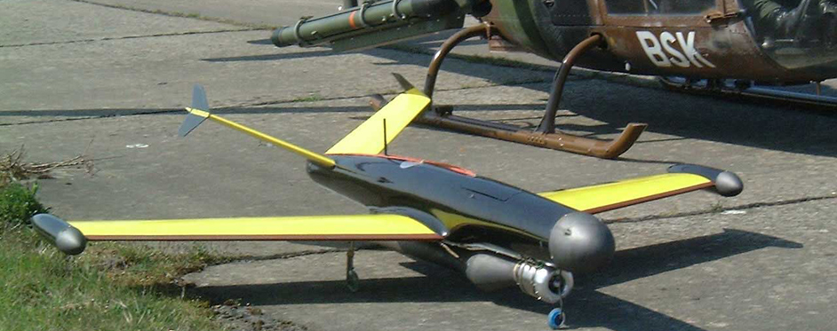 cible aérienne infrarouge CARINE (UAV) - Jets RC - Aviation Design